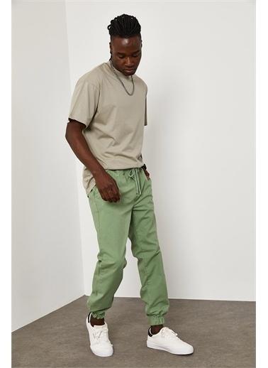 XHAN Beli Paçası Lastikli Pantolon 1YXE5-45104-08 Yeşil